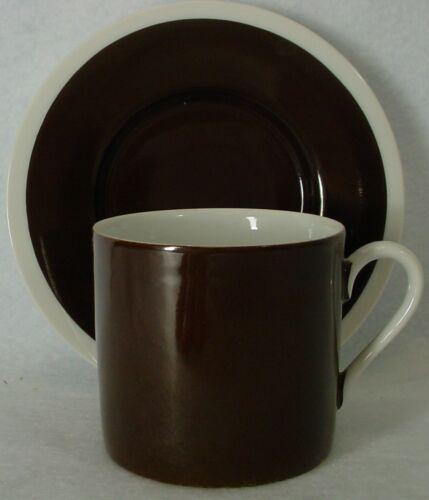 FITZ /& FLOYD china RONDELET Dark Brown DEMITASSE CUP /& SAUCER Set