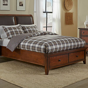 Eddie Bauer Edgewood Plaid Khaki 3 Piece Cotton Duvet