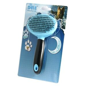 Pet-Fur-Grooming-Shedding-Brush-Comb-Rake-Dog-Cat-Long-Short-Hair-Ball-Head-Blue