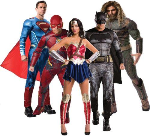 Mens Ladies Justice League Superhero DC Comic Film Fancy Dress Costume Outfits