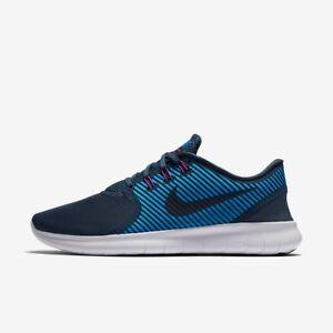 Donna Nike Free Run cmtr Taglia 3.5 4 BLUES Scarpe da corsa NUOVO