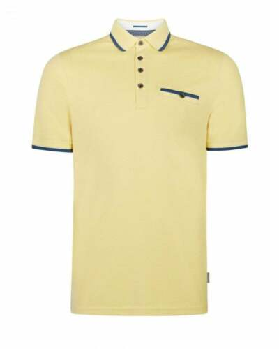TED BAKER HABTAT YELLOW SOFT TOUCH POLO SHIRT