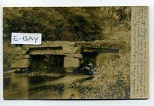 PM Middleboro MA Mass RPPC real photo stone bridge 1905