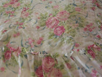 Victorian Pink Rose Ribbon Plisse Flower Floral Ruffled Bedspread Bed Cover Set