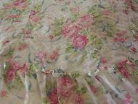 Victorian Pink Rose Ribbon Plisse Flower Floral Ruffled Bedspread Bed Cover Set