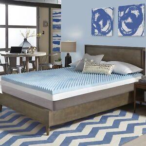 New Cool 3 Quot Textured Ultimate Comfort Memory Foam Gel Bed