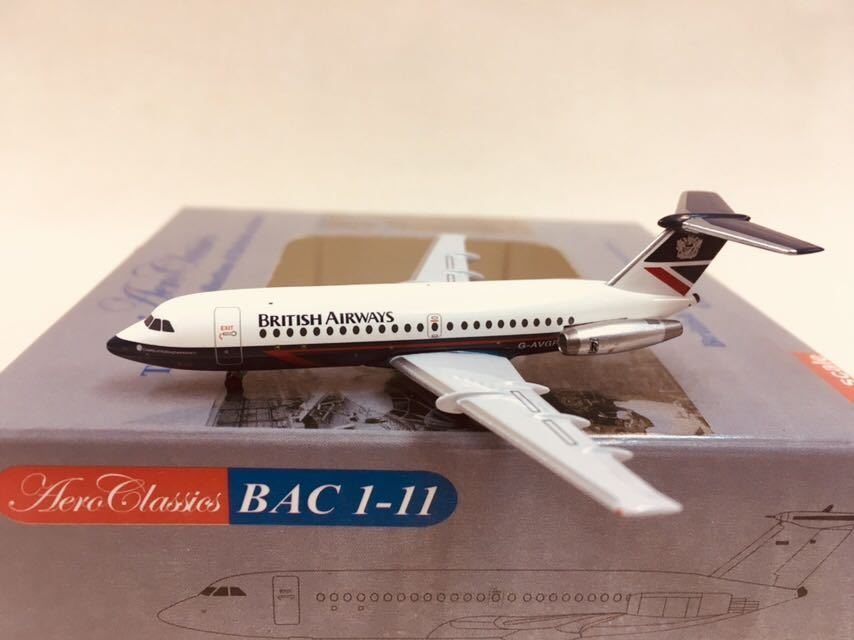 exclusivo Aeroclassics 1 400 British Airways BAC1-11 G-Avgp G-Avgp G-Avgp  Vuelta de 10 dias