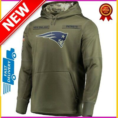 Details about NIKE New Men's England Patriots Salute to Service Sideline Therma Hoodie 2019