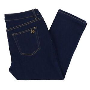 216bebe25fc564 Michael Kors Womens Jeans Skinny Fit Cropped Capri Denim Pants 4 6 8 ...