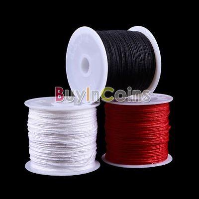 1 Roll 45M Nylon Cord Thread Knot Macrame Bracelet Braided Cord 0.8MM