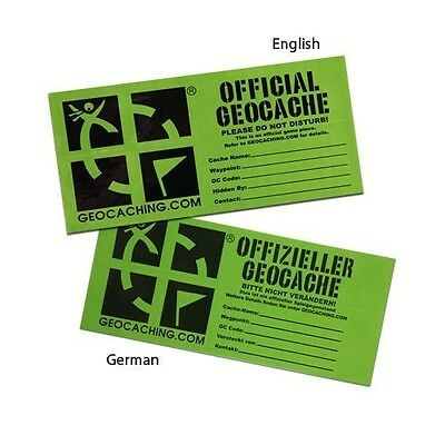 Small Official Geocache Cache Label / Sticker - For Geocaching
