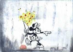 Minnie After Banksy  - Original By MEB + Tony Fernandez Disneys Artist 25 yrs
