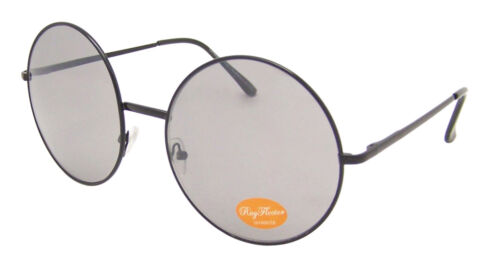 BIG ALCO Metal Rimmed Round BROWN Lens Sunglasses Large Lens lennon Vintage