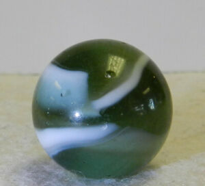 #12461m Vintage Peltier Glass Shooter Marble .84 Inches