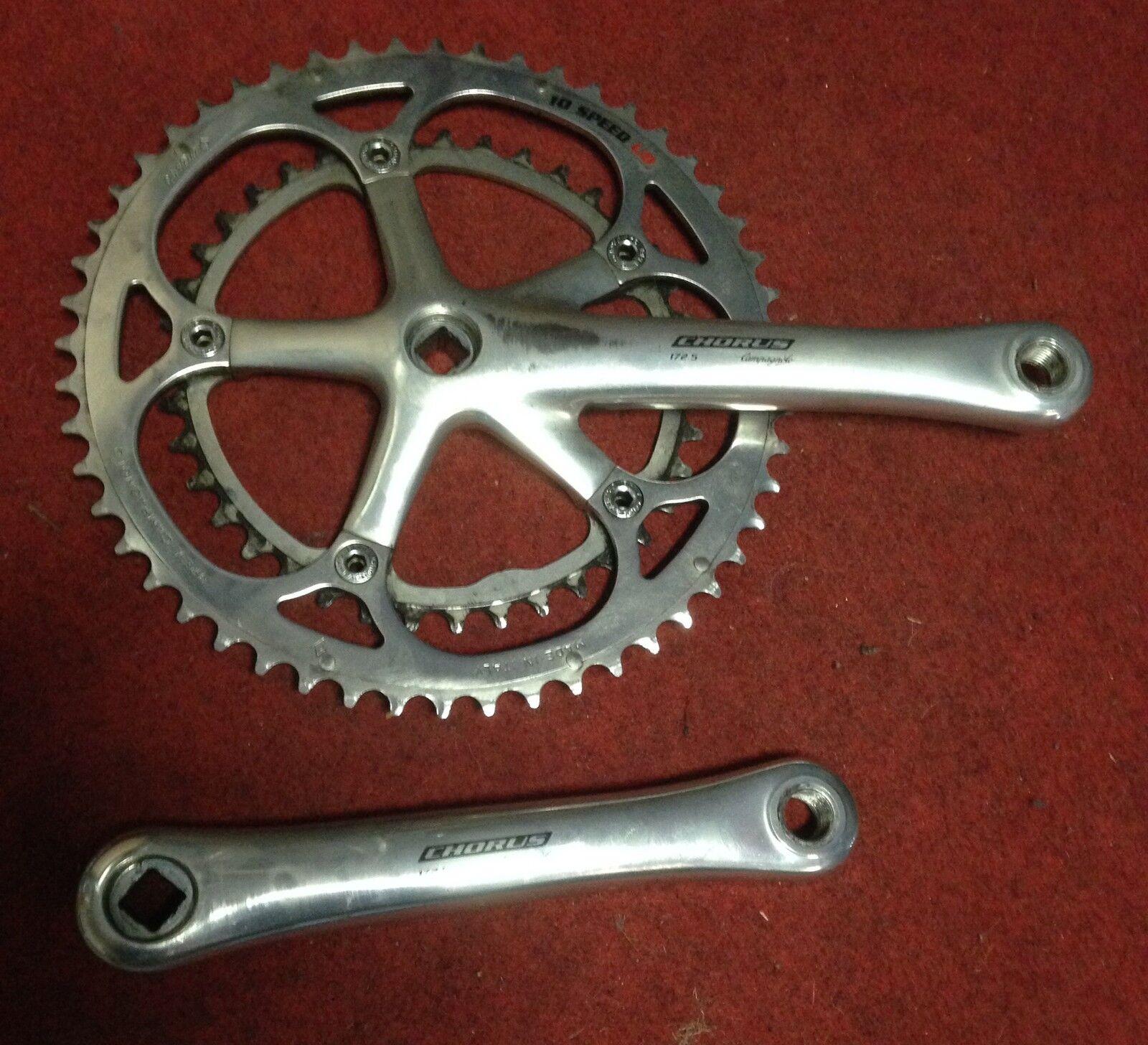 Conjunto de manivela Campagnolo coro 10 s bicicleta crankset 172.5 52-39 fabricado en