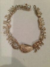 Sterling Silver Lovely Noah's Ark Bracelet
