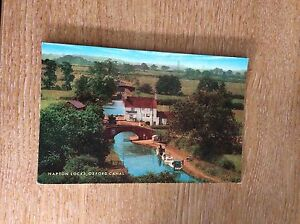 g9b-postcard-unused-napton-locks-oxford-canal