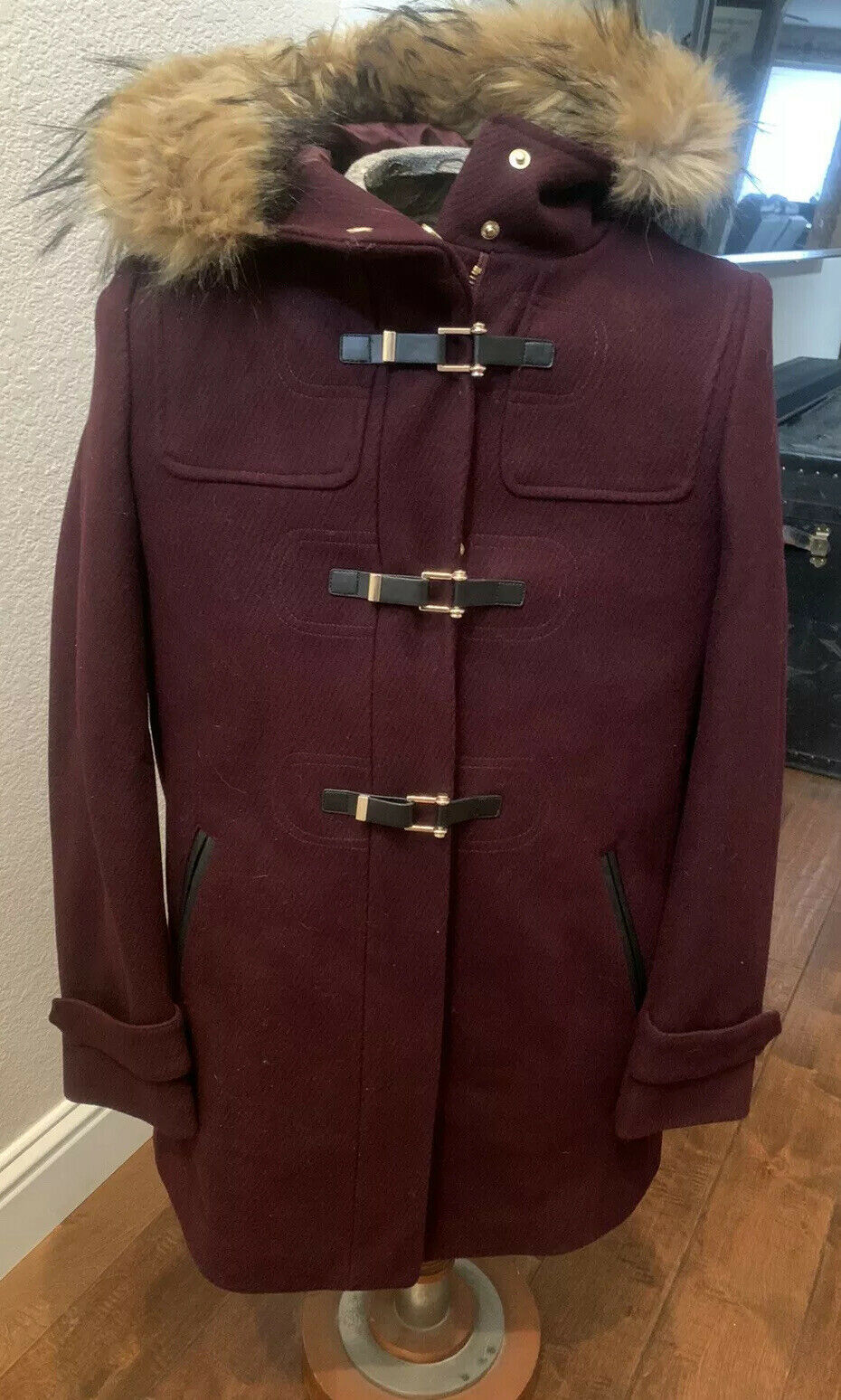 Cole Haan Women's Wool Twill Short Duffel Coat Bo… - image 2
