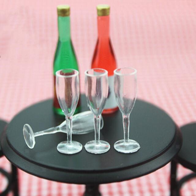 8 Stück Miniaturbecher im Maßstab 1//12 Weingläser Puppen Haus Küche Accs