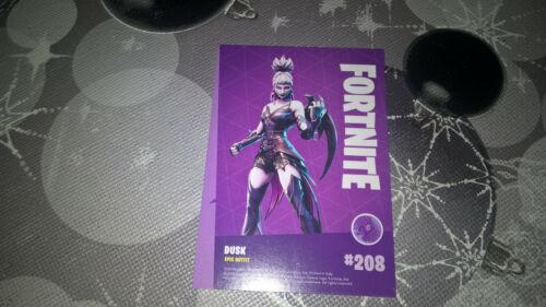 Panini Fortnite EPIC Sammel Karte Nr 208 Outfit Dusk KEINE HOLO