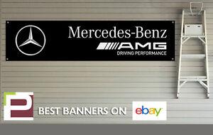 Image Is Loading AMG Mercedes Benz Banner For Workshop Garage Office