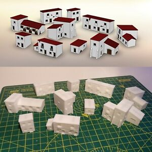 Details about 6mm Scale Hispanic Napoleonic Wargame Village Scenery – 10  Buildings (Set 2)