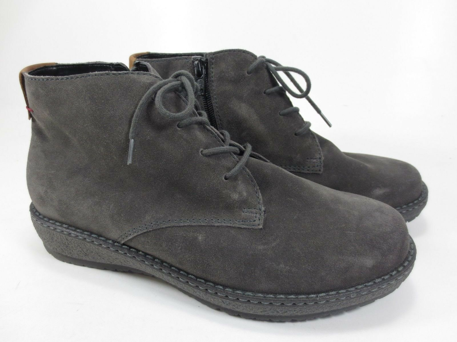 Ranger Hoja Leather shoes Ankle Boots Boots Warm Grey Size 37,5 UK 4,5 H 222