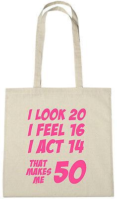 Makes Me 50 Bag 50th Birthday Gifts