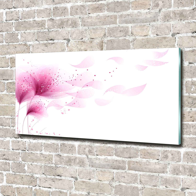 Cuadros de pa rojo pantalla  de pantalla rojo de cristal impresión en flores decorativas cristal 140 x 70 y la flor de las plantas color de rosa c29235