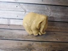 Netsuke Mammoth Elephant from Billiard Ball Cue Ball Pool Hand Carving_y716