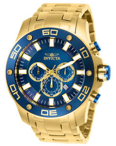 Invicta-26078-Men-039-s-Pro-Diver-Chronograph-Quartz-Blue-Dial-Watch