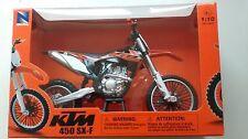 NEWRAY Toys 1:10 KTM SX-F 450 Motocross bike model