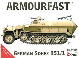 ARMOURFAST-99019-WWII-German-SdKfz-251-1-Halftrack-2-Model-Kit-Airfix-FREE-SHIP