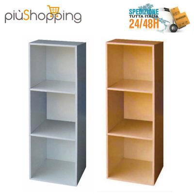Libreria moderna design moderno mobile scaffale 3 cubi for Cubi in legno arredamento