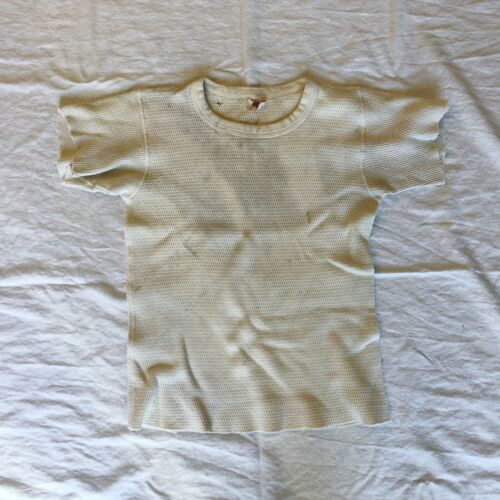 vtg 60s kmart thermal cotton tshirt 50s 70s