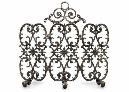 Ornamental Designs 3 Panel Siena Fireplace Screen With Arch Matte Black For Sale Online