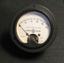 Vintage General Electric 0 100 Dc Milliamperes Meter Usn Type Cg 22059