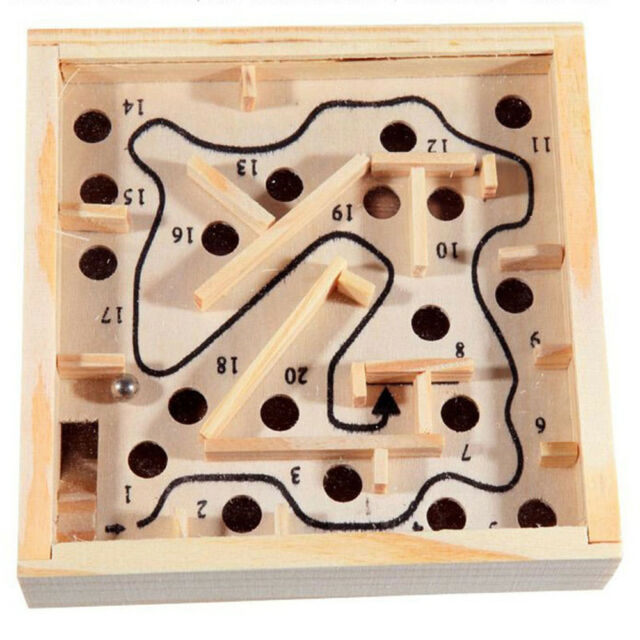Labyrinth Game Wooden Maze Puzzle Educational Toy Board Ball Race Kid Child Gift