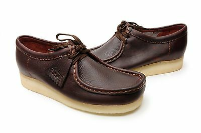 Clarks Mens Wallabee Outdoor Casual Shoes 37982 Brown Oily Leather