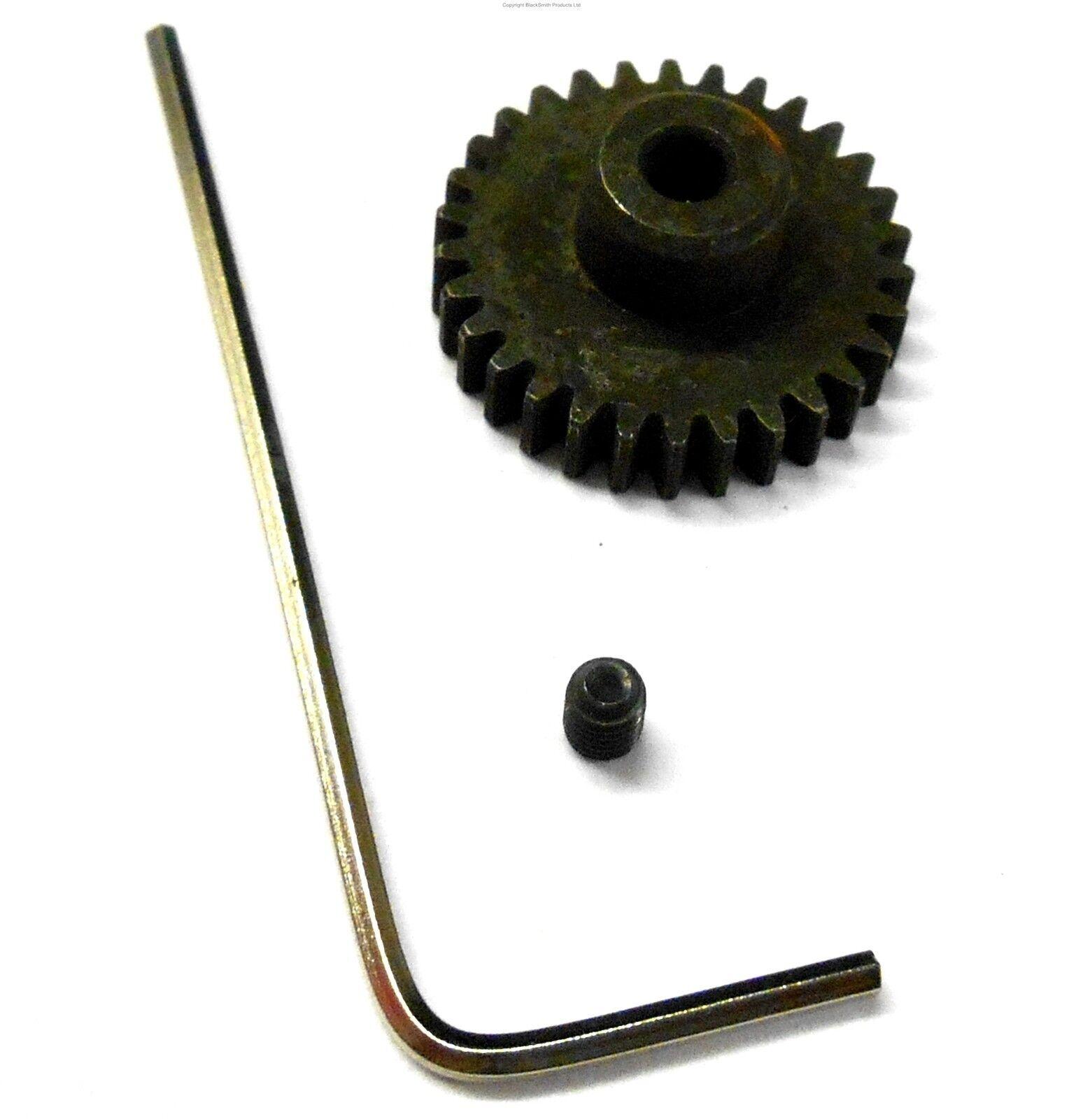 L816 Module 0.8 0.8M 16T 16 Teeth Tooth Motor Pinion Gear Black 1//10 540 3.17mm