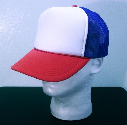 RED WHITE /& BLUE TRUCKER HATS ~ STRANGER THINGS ~ MESH 24 Hats Wholesale Lot