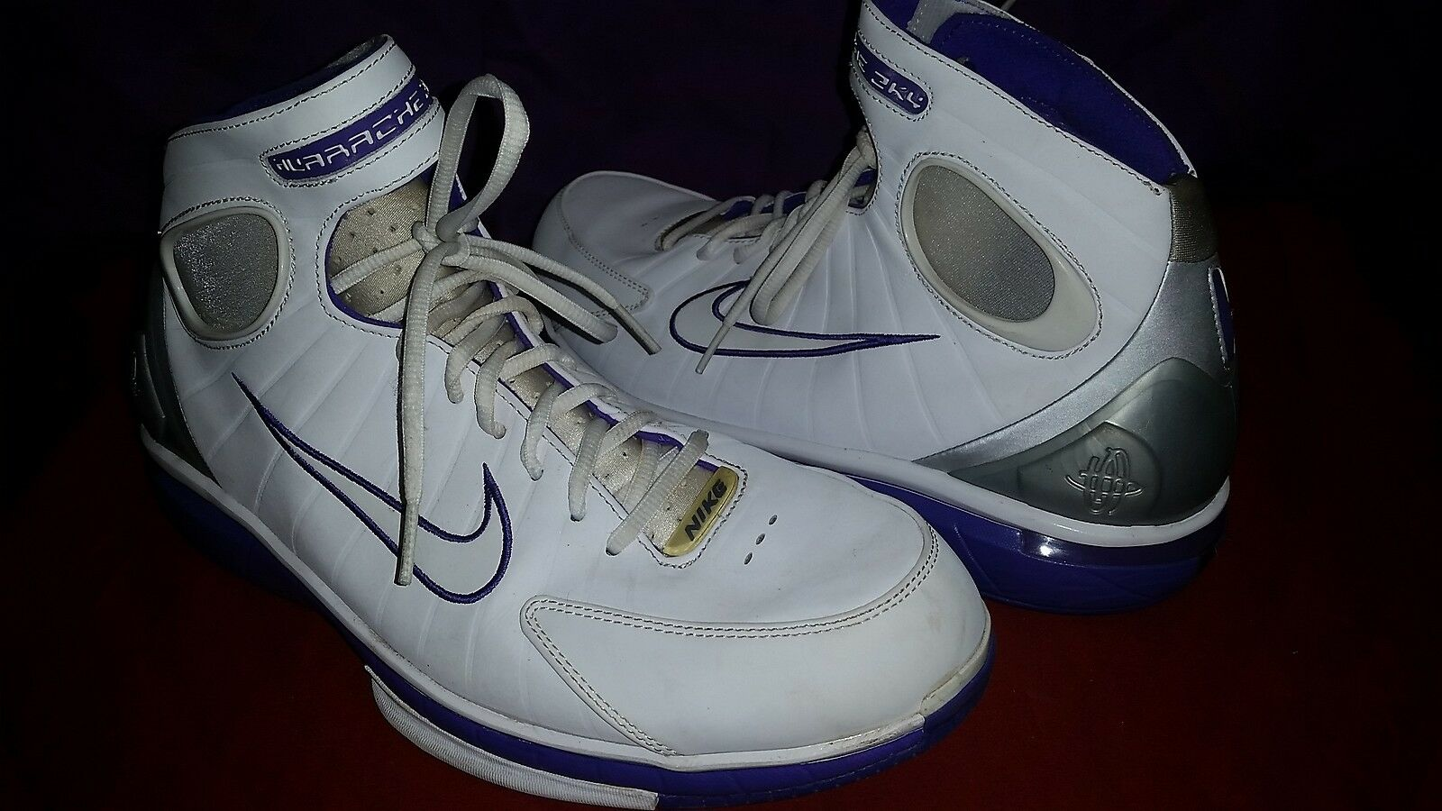 Nike Huarache Kobe Bryant White Met 2K4 Basketball 511525 Men's shoes size 12.5