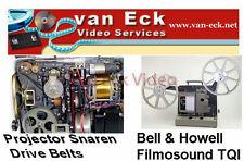 Bell & Howell Filmosound TQI (models 652 / 655 / 658) - 4 belt set- Flat motor