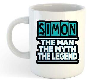 Simon-The-Man-The-Myth-The-Legend-Mug-Name-Personalised-Funky-Gift
