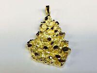 14k Yellow Gold Nugget Design Fashion Charm Pendant 8 Grams