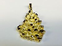 14k Yellow Gold Nugget Design Fashion Charm Pendant 8 Grams