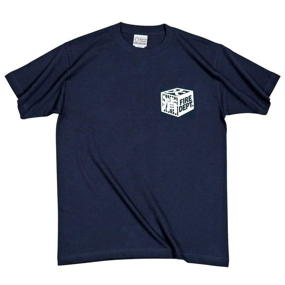 HiKESHi SPiRiT T-shirt fire fighter Logo Limited Edition  Navy bluee F S