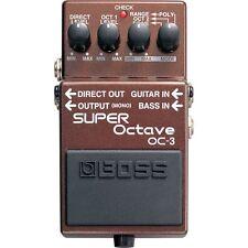 BOSS OC-3 Dual Super Octave Polyphonic Guitar Bass Effects Pedal w/ Overdrive