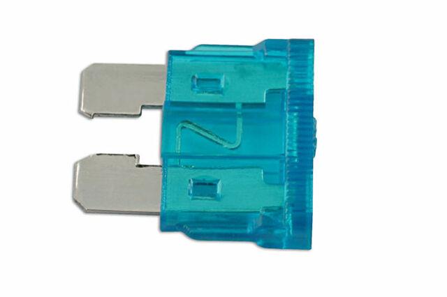 Originale Auto Lama Fusibile 15-amp Blu Confezione 50 Connect 30417