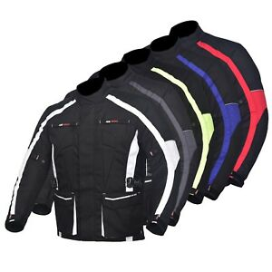 Men-039-s-Motorcycle-Motorbike-Jacket-Waterproof-Textile-With-CE-Armoured-5-Colours